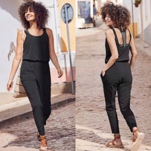 Athleta Black Roaming Romper Jumpsuit